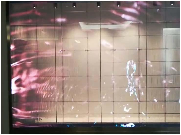 迷你光电橱窗LED透明屏项目