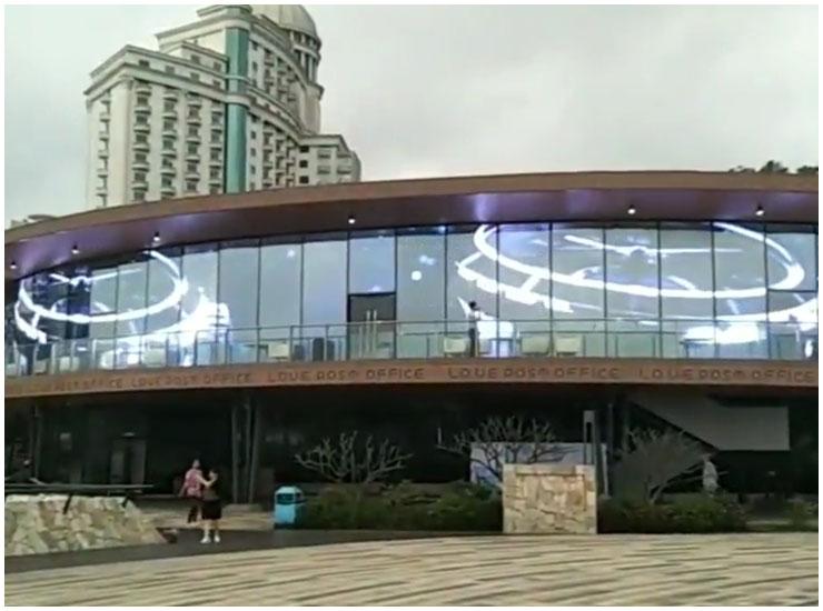 迷你光电购物商场LED透明屏项目